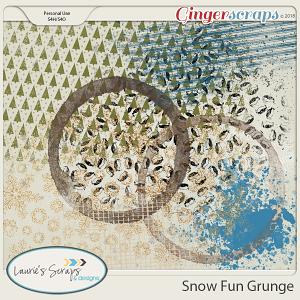 Snow Fun Grunge