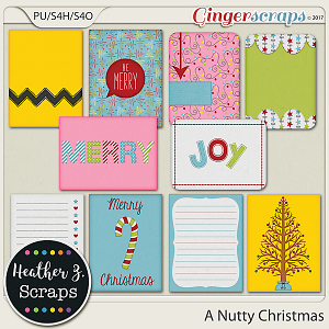 A Nutty Christmas JOURNAL CARDS by Heather Z Scraps