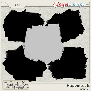 Happiness Is Masks by Tami Miller Designs