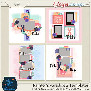Painter's Paradise 2 Templates by Miss Fish