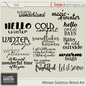 Winter Solstice Word Art by Aimee Harrison