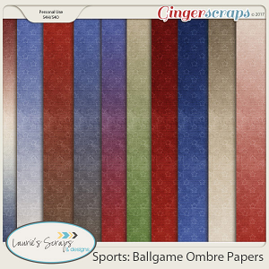 Sports: Ballgame Ombre Papers