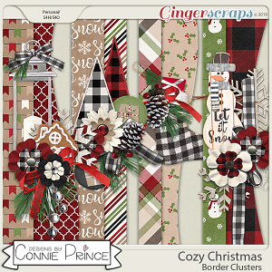 Cozy Christmas - Border Clusters by Connie Prince