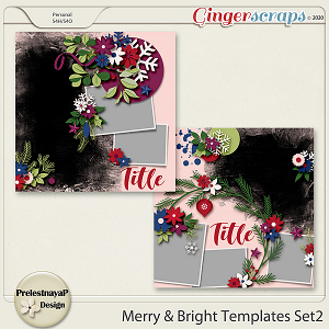 Merry & Bright Templates Set2