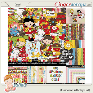 Unicorn Birthday Girl Bundle