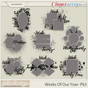 Weeks Of Our Year Masks - Pack 3