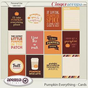 Pumpkin Everything - Cards by Aprilisa Designs