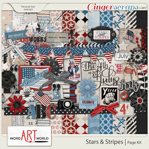 Stars and Stripes Page Kit