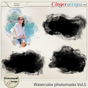 Watercolor photomasks Vol.5