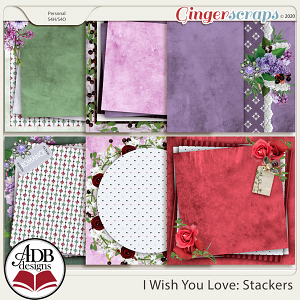 I Wish You Love Stacked Papers by ADB Designs