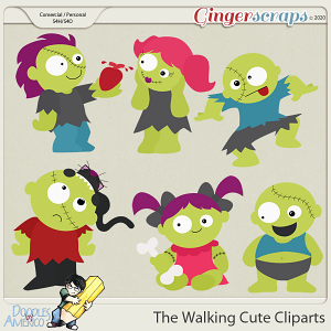Doodles By Americo: The Walking Cute Cliparts