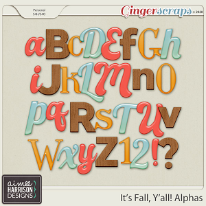 It's Fall Y'all Alpha Sets by Aimee Harrison