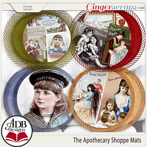 The Apothecary Shoppe Mats by ADB Designs