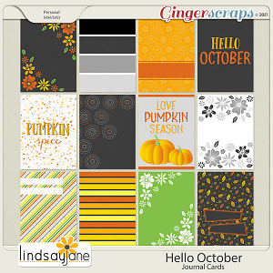Hello October Journal Cards by Lindsay Jane