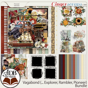Vagabond, Explorer, Rambler, Pioneer Bundle by ADB Designs