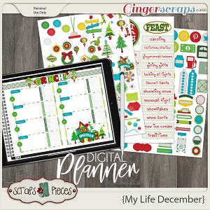 My Life December Planner Pieces - Scraps N Pieces
