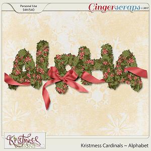 Kristmess Cardinals Alphabet