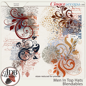 Men in Top Hats Blendables by ADB Designs