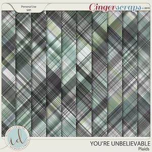 You're Unbelievable Plaids by Ilonka's Designs