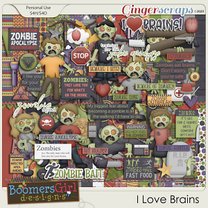 I Love Brains by BoomersGirl Designs