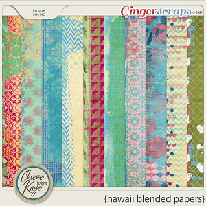 Hawaii Blended Papers by Chere Kaye Designs
