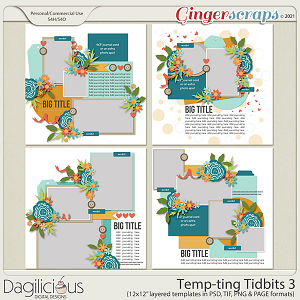 Temp-ting Tidbits 3 Templates by Dagilicious