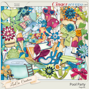 Pool Party Page Kit