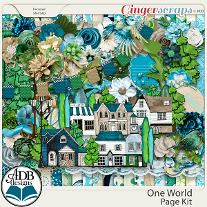 One World Page Kit by ADB Designs