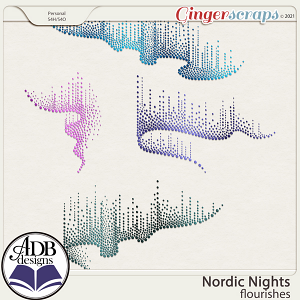 Nordic Nights Flourishes by ADB Designs