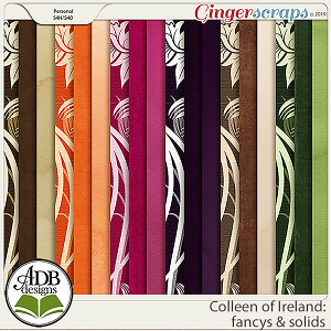 Colleen of Ireland Fancy & Solid Papers by ADB Designs