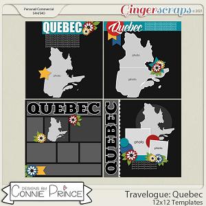 Travelogue Quebec Canada - 12x12 Temps (CU Ok) by Connie Prince