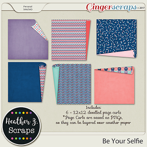 Be Your Selfie DOODLED PAGE CURLS by Heather Z Scraps
