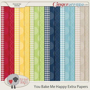 You Bake Me Happy Extra Papers by Luv Ewe Designs