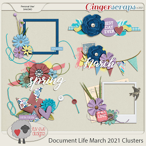 Document Life March 2021 Clusters by Luv Ewe Designs