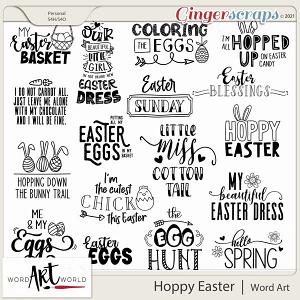 Hoppy Easter Word Art
