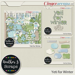 Yeti for Winter BUNDLE by Heather Z Scraps