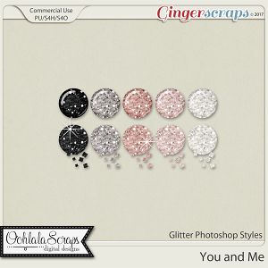 You and Me CU Glitter Photoshop Styles