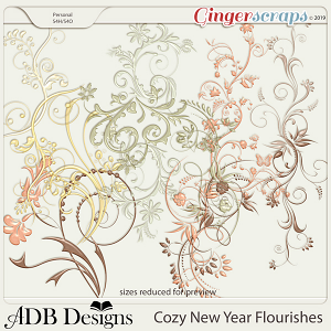 Cozy New Year Flourishes by ADB Designs