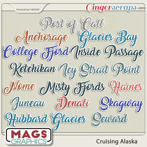 Cruising Alaska PORTS OF CALL TITLES by MagsGraphics