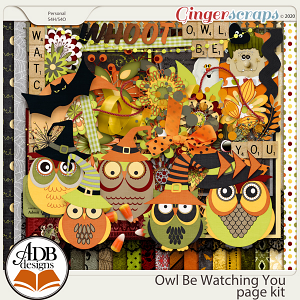Owl Be Watching You Page Kit by ADB Designs