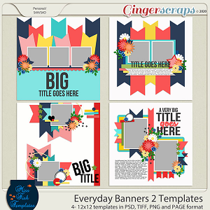 Everyday Banner 2 Templates by Miss Fish