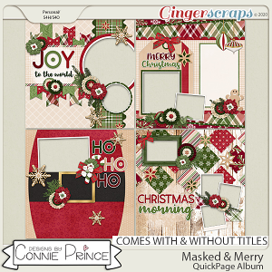 Masked & Merry - Quick Pages by Connie Prince