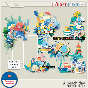 A beach day - clusters pack 2