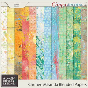 Carmen Miranda Blended Papers by Aimee Harrison