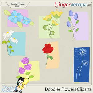 Doodles By Americo: Doodles Flowers Cliparts