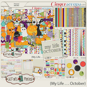 My Life - October Bundle by Scraps N Pieces