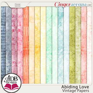 Abiding Love Vintage Papers by ADB Designs
