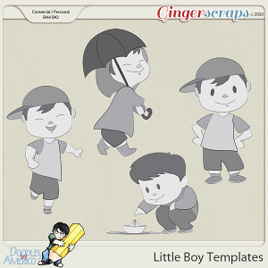 Doodles By Americo: Little Boy Templates