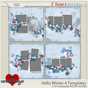 Hello Winter 4 Templates by CarolW Designs