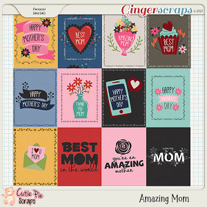 Amazing Mom Journal Cards